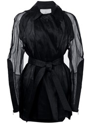 A.F.Vandevorst Organza Trench Coat Black