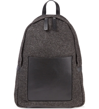 Marni Felt Leather Backpack Grey Black