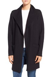 Eileen Fisher Women's Boiled Wool Funnel Neck Coat