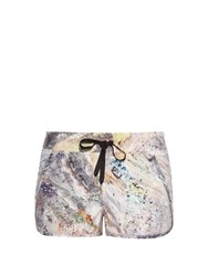 Alala Electric Stone Print Drawstring Performance Shorts Multi