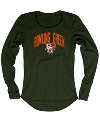 Blue 84 Women's Long Sleeve Bowling Green Falcons Thermal T Shirt Forest Green