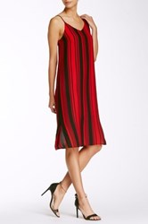 Painted Threads Woven Cami Shift Dress Red