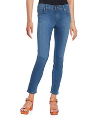 Free People Lou Blue Skinny Jeans