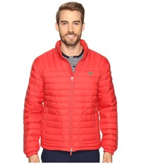 Lacoste Packable Jacket Bright Cherry Red Men's Coat