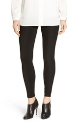 Hue Women's Ribbed Panel Ponte Knit Leggings