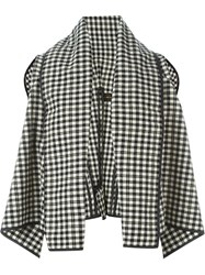 Comme Des Gara Ons Vintage Checked Cape Nude And Neutrals