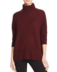 Bloomingdale's C By Cashmere Turtleneck Sweater Marled Cabernet