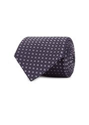 Pal Zileri Black Tile Jacquard Silk Tie Blue