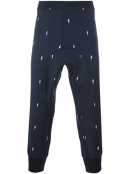Neil Barrett Gathered Ankle Track Pants Blue