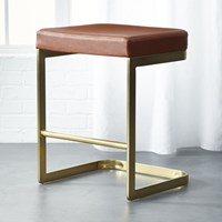 Cb2 Mack Leather 24 Counter Stool