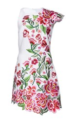 Andrew Gn Cap Sleeve Floral Dress White