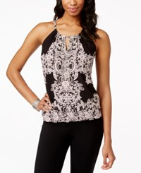 Inc International Concepts Petite Embellished Printed Blouse Only At Macy's