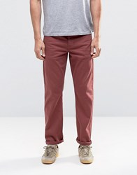Asos Stretch Slim Jeans In Burgundy Oxblood Red