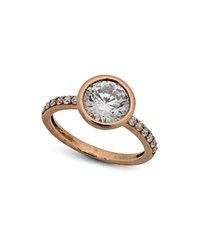 Crislu Pave Ring Rose Gold