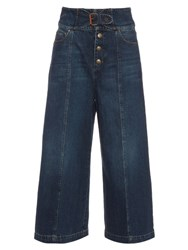Red Valentino High Waisted Wide Leg Jeans Denim