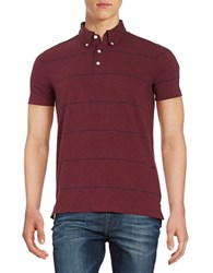 Brooks Brothers Striped Polo Shirt Dark Red