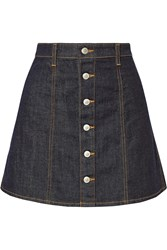 Ag Jeans Alexa Chung Kety Denim Mini Skirt Blue