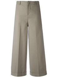 Pt01 Wide Legged Cropped Trousers Nude Neutrals
