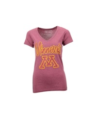 Royce Apparel Inc Women's Minnesota Golden Gophers Hugo T Shirt Darkred