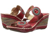 Spring Step Taffy Red 1 Women's Sling Back Shoes