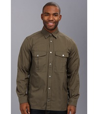 Fj Llr Ven Greenland Shirt Tarmac Men's Long Sleeve Button Up Olive