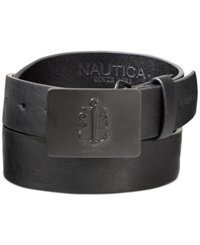Nautica Anchor Plaque Buckle Belt Black