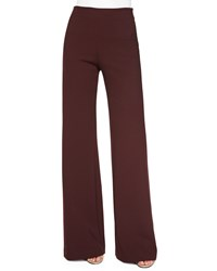 Clover Canyon Jersey High Waist Flare Pants Burgundy Red