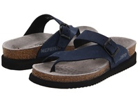 Mephisto Helen Navy Nubuck Women's Sandals Blue