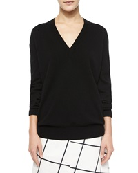 Tomas Maier Long Sleeve V Neck Cashmere Sweater