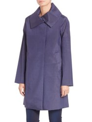 Jane Post Jane A Line Coat Blue