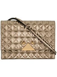 Emporio Armani Quilted Crossbody Bag Metallic