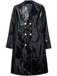 Undercover Double Breasted Peaked Lapel Coat Black