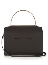Roksanda Ilincic Signature Leather Bowling Bag Black