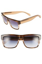 Men's Marc By Marc Jacobs 56Mm Sunglasses Striped Brown Blue Gradient