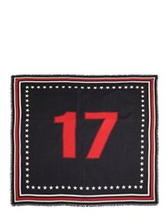 Givenchy 17 Flag Printed Wool And Silk Scarf