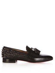 Christian Louboutin Tassilo Studded Leather Loafers Black
