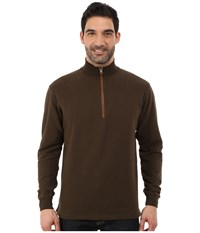Woolrich Boysen Half Zip Dark Loden Men's Clothing Olive