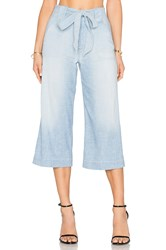 7 For All Mankind Crop Palazzo Stretch Chambray