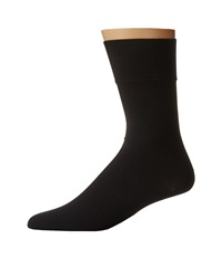 Wolford Cotton Velvet Socks Black Men's Crew Cut Socks Shoes