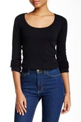 American Apparel Long Sleeve Scoop Neck Tee Black