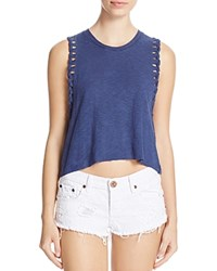 Michelle By Comune Braided Cuff Tank Navy