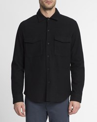 Theory Black Mory Chest Pockets Wool Overshirt