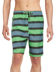 Nike Striped Volley Shorts Voltage Green