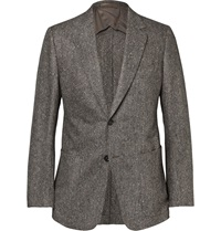 Dunhill Fitzrovia Slim Fit Flecked Wool Blazer Neutrals