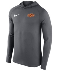 Nike Men's Oklahoma State Cowboys Stadium Dri Fit Touch Hoodie Gray