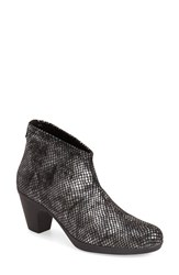 Women's Toni Pons 'Finley' Bootie Black Reptile Print Fabric