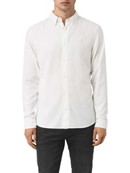 Allsaints Shire Slim Fit Cotton Shirt Off White