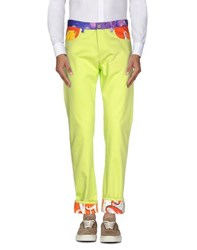 Moschino Couture Trousers Casual Trousers Men Acid Green
