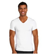 Calvin Klein Underwear Body Micro Modal S S V Neck U5563 White Men's Short Sleeve Pullover