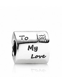 Pandora Design Pandora Charm Sterling Silver And Red Enamel Love Letter Moments Collection Silver Red